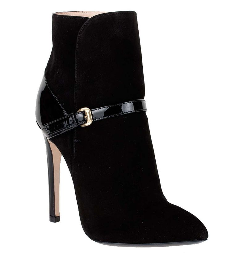 €513 - Emilio Pucci Suede and patent ankle boot