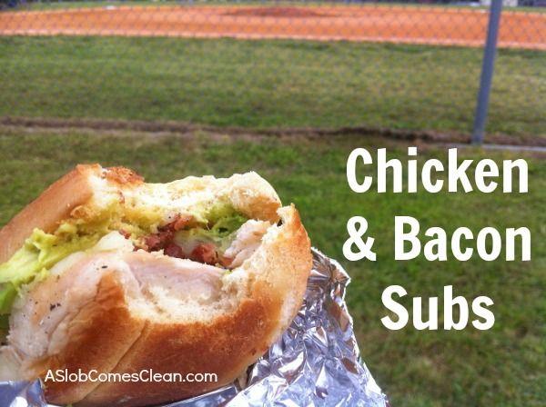 Picnic Idea: Chicken & Bacon Sub Sandwiches
