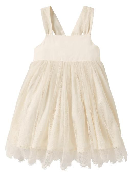 Baby Gap 2013 2014 Lace Dress in Ivory Frost