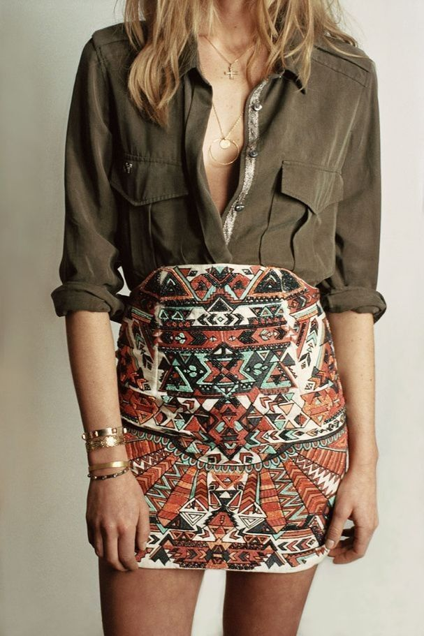 #spring #casual #outfits #inspiration | Ethnic chic outfit