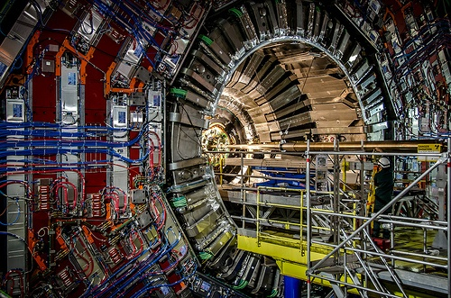 Compact Muon Solenoid (CMS), particle detector on the LHC, 100 m underground, CERN