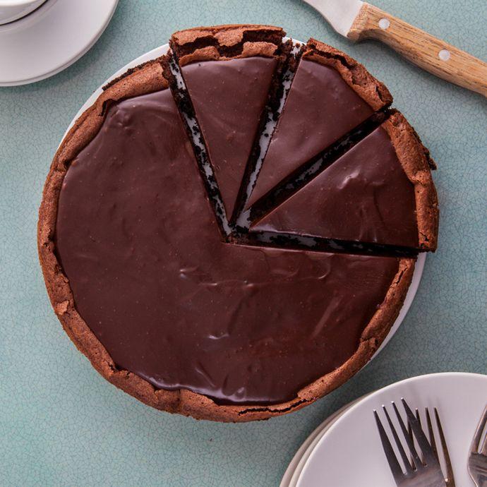 Torta de mousse de chocolate light