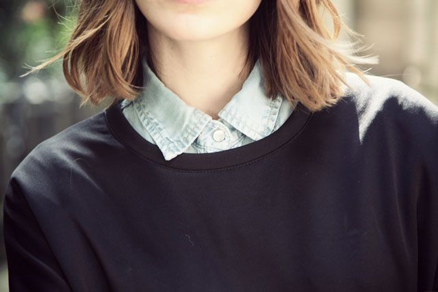Marie from the blog Into Your Closet http://intoyourcloset.blogspot.fr/2014/06/the-perfect-jean-shirt.html