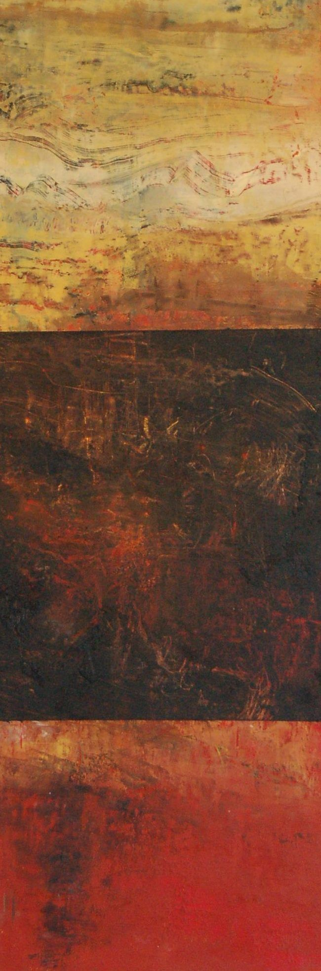 Contemporary Abstract Art, Oil, Wax, Mixed Media on Panel. By: Marie Therese Wekx