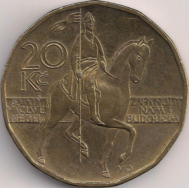 Wertseite: Münze-Europa-Mitteleuropa-Tschechien-Koruna-20.00-1993-2015