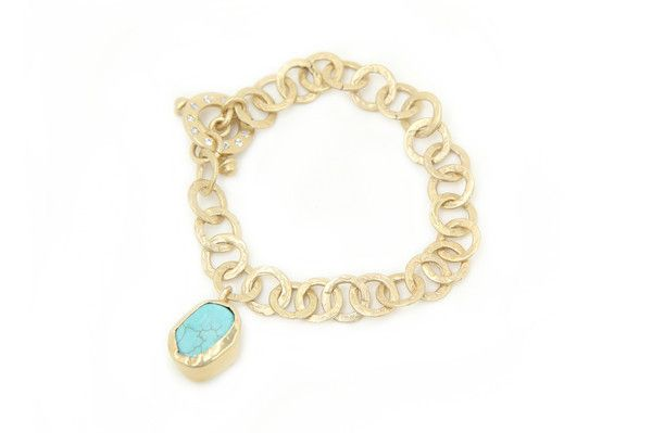 Zariin Slip It On Turquoise Bracelet: Available at http://eveadorned.com/collections/zariin