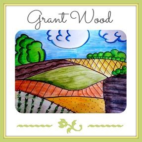 Art Lessons by Artist: Grant Wood Art Lesson for Co-ops, and other classics