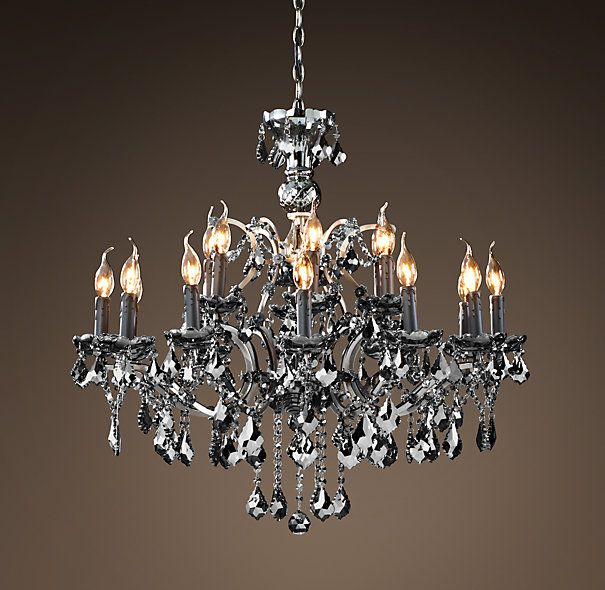 19th C Rococo Iron Crystal Chandelier Large Smoke Not Normally A Chandelier Person But Do
