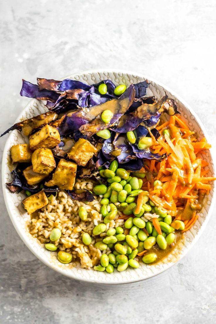Tofu Edamame Buddha Bowl Recipe Vegan Buddha Bowl Buddha Bowls Recipe Vegetarian Meals For Kids