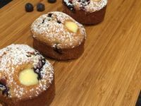 Blueberry and Custard Filled Friands