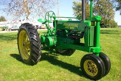 Old John Deere tractors