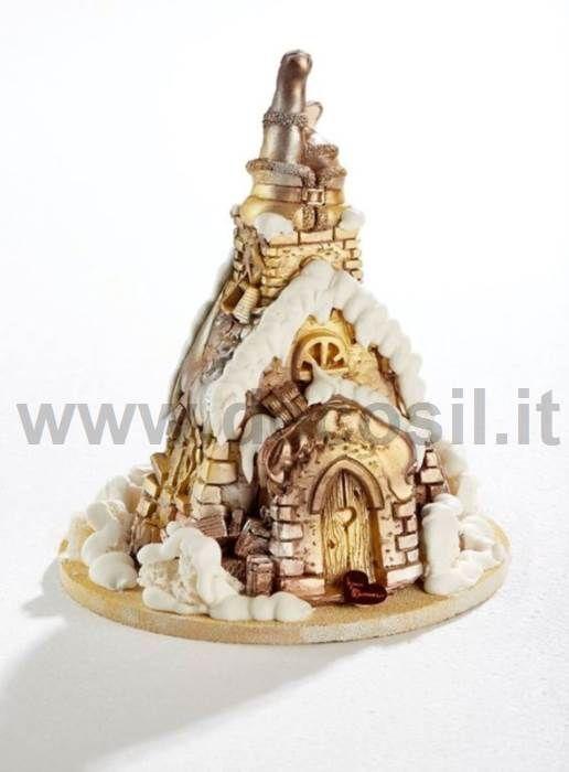 Santa Claus in chimney Pine Shell mold