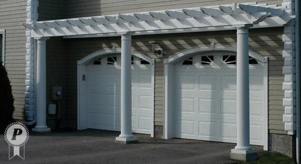Top 25 ideas about garage door trellis or arbors on for Garage pergola kits