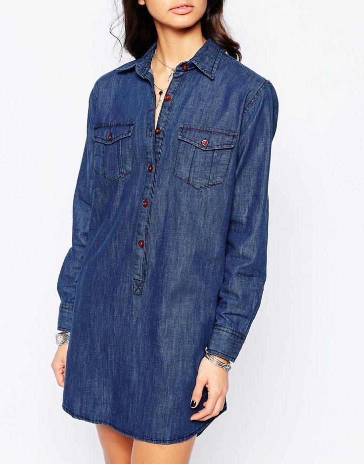 1000 id es sur le th me robe chemise en jean sur pinterest robe chemise jeans et chaussure basket. Black Bedroom Furniture Sets. Home Design Ideas