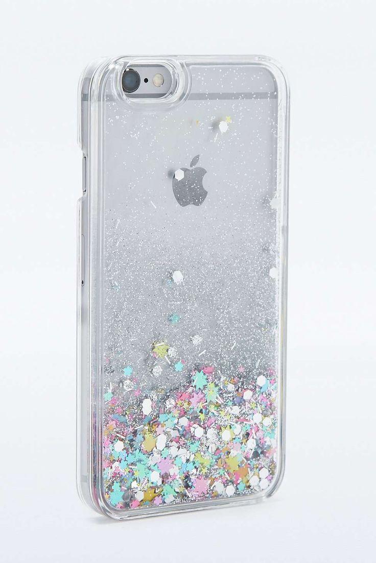 Coque pour iPhone 6 avec eau et paillettes