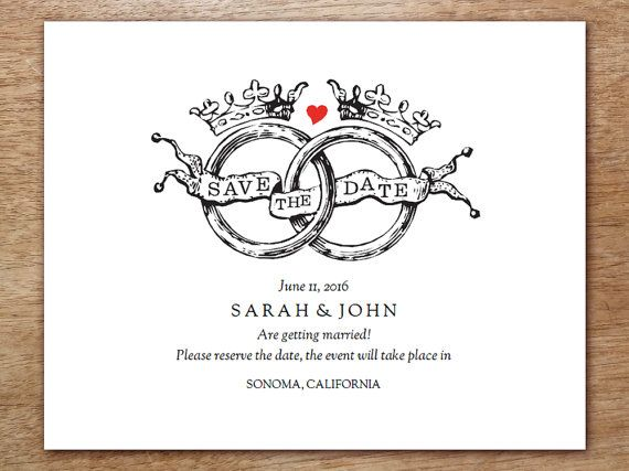Best 25 save the date templates ideas on pinterest save for Free vintage save the date templates