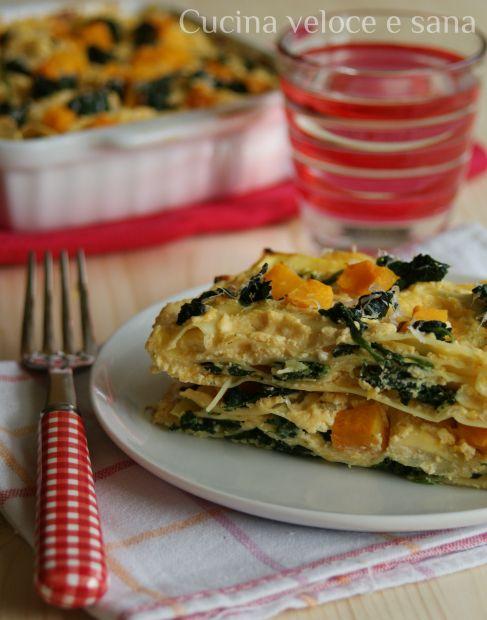 lasagne alla zucca e spinaci