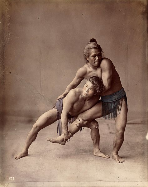 Two wrestlers, ca. 1880s by Baron Raimond von Stillfried