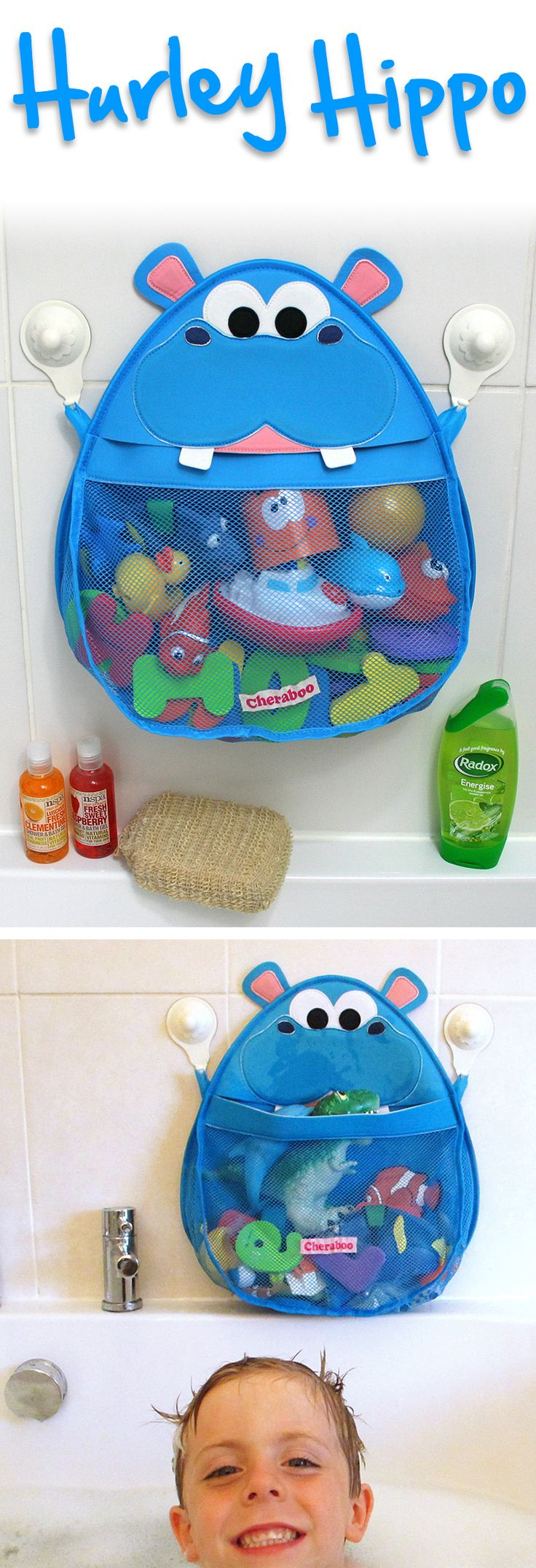 "How cute is this bath toy organizer from Cheraboo? ""Make bathtime fun time, with the Hurley Hippo bath toy storage solution that encourages your little ones to put away their toys so you enjoy a clutter-free tub and an organized bathroom."" http://www.amazon.com/dp/B00WHU5ND0 #amazon"