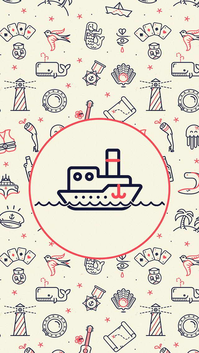 ↑↑TAP AND GET THE FREE APP! Art Creative Pattern Ship Funny HD iPhone Wallpaper