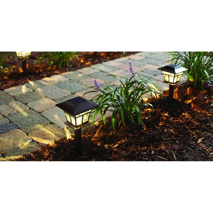 Hampton Bay Mediterranean Bronze Solar Path Light (4-Pack)-93044 - The Home Depot