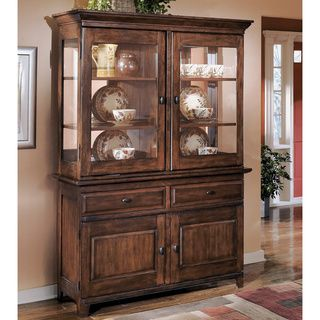 Signature Design by Ashley 'Larchmont' Dark Brown Dining Room Buffet and Hutch - Overstock™ Shopping - Big Discounts on Signature Design by Ashley Buffets