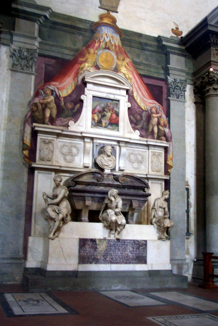 The tomb of Michelangelo, Santa Croce, Florence Italy