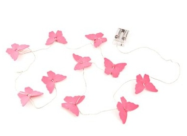 Pink butterfly fairy lights...
