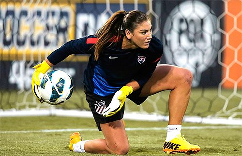 Hope Solo! My daughters inspiration.