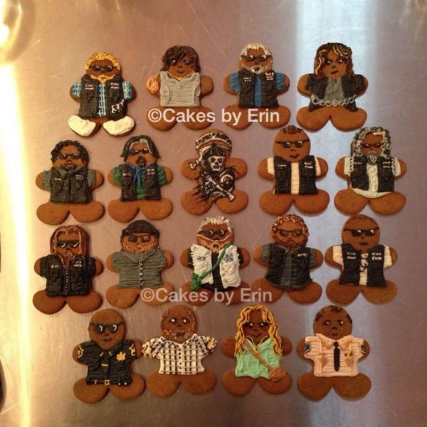 Sons of Anarchy Gingerbread Men