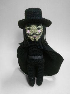 V for Vendetta amigurumi by nevR-sleep.deviantart.com on @deviantART