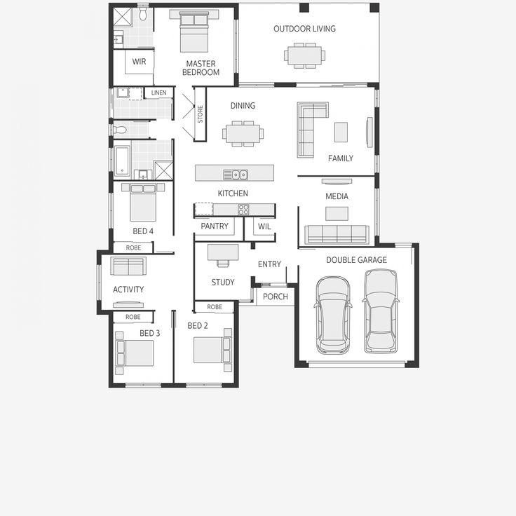 Home villa basse for Plan villa basse