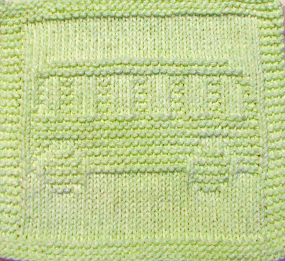 Knitting  Cloth Pattern    SCHOOL BUS   PDF by ezcareknits on Etsy, $3.00