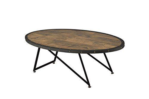 Acme Furniture Acme Allis Coffee Table Weathered Dark Oak Retro