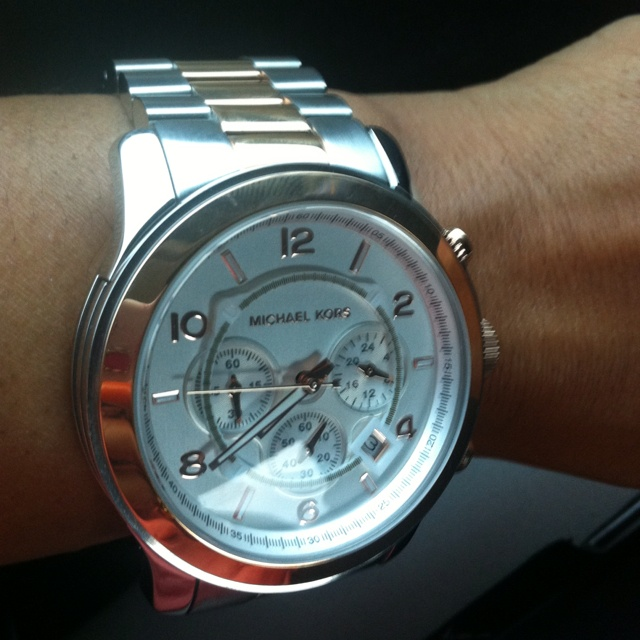 Rose Gold and Silver. Oversized and  Michael Kors. Watch it...