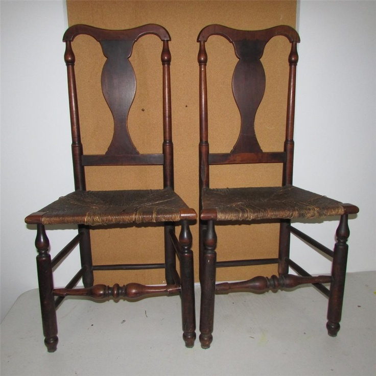 MUSEUM QUALITY PAIR OF18TH C PENNSYLVANIA QUEEN ANNE CHAIRS IN ORIGINAL  PAINT - 49 Best Queen Anne Images On Pinterest Queen Anne Furniture