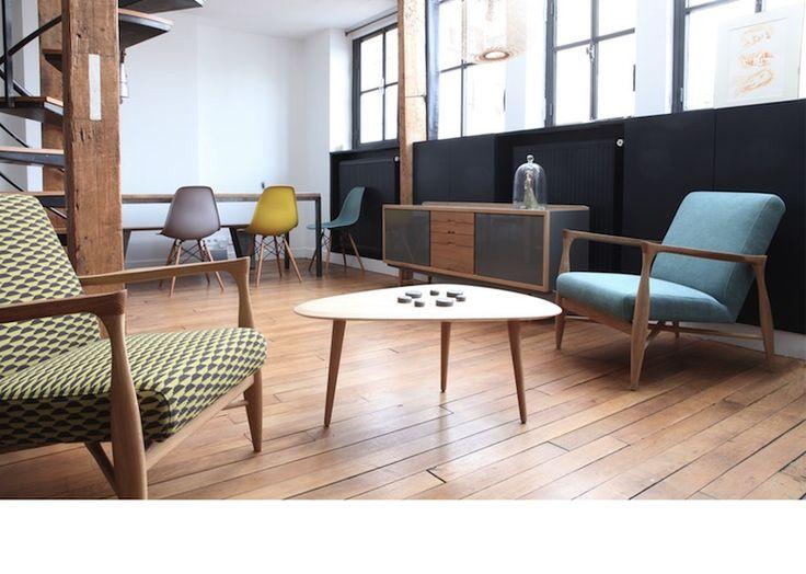 mid century living room / danish furniture / scandinave