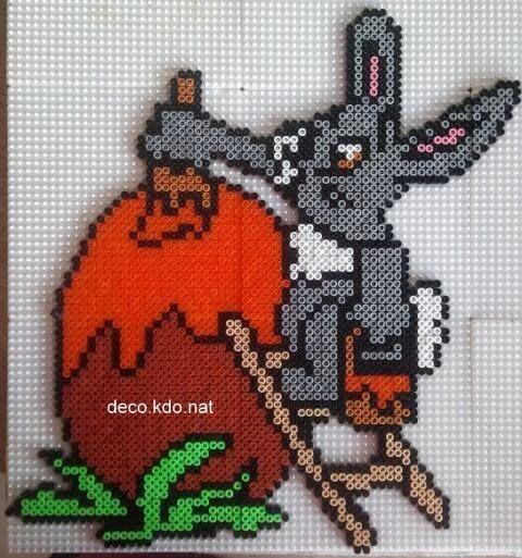 Easter rabbit hama perler beads by deco.kdo.nat