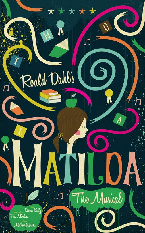 Matilda the Musical poster. Design by Andrew Bannecker.