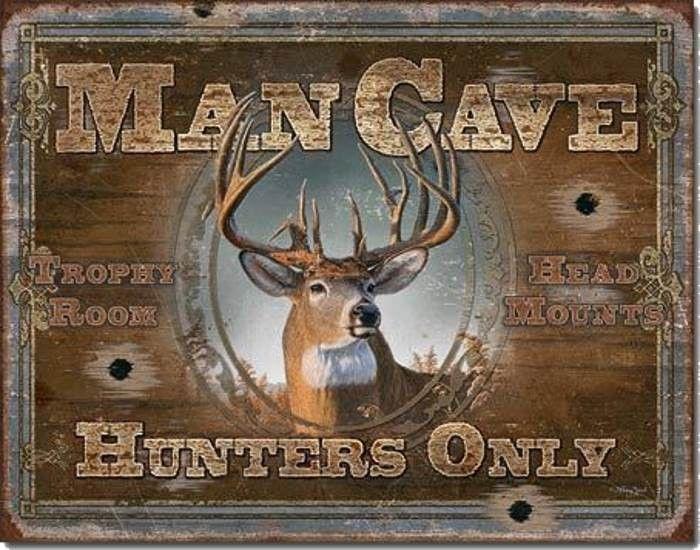 metal wall signs welcome to man cave elk deer metal tin sign