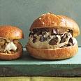 Sicilian Ice Cream Sandwiches.  Hazelnut gelato on brioche rolls.