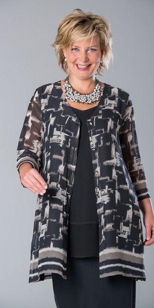 Kasbah black/mink voile scoop neck jacket at Box 2