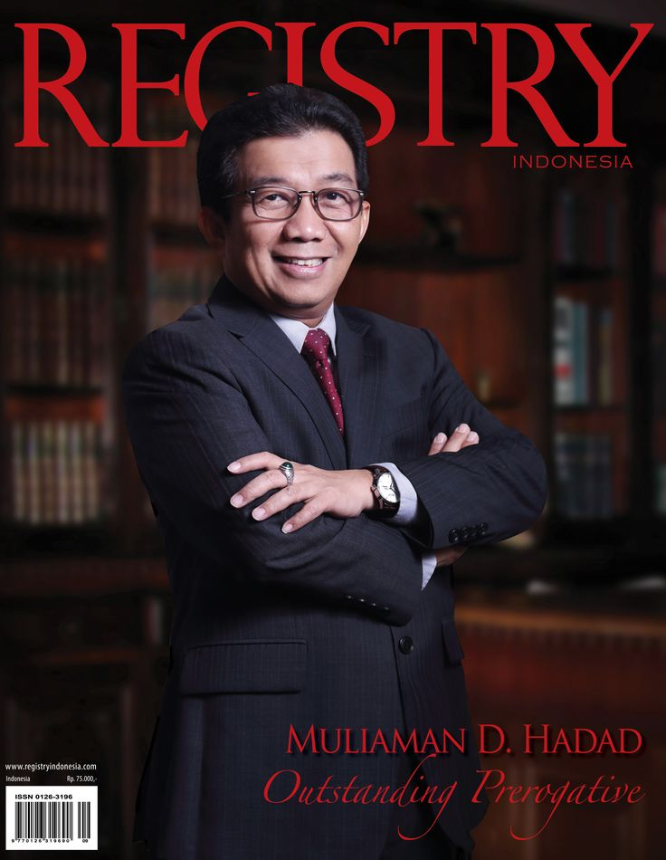 #Registry e Magazine  October - November 2014 Edition   #Photographer : Registry Indonesia  #Socialite : Muliaman D. Hadad (Outstanding Prerogative)  #RegistryE #Cover