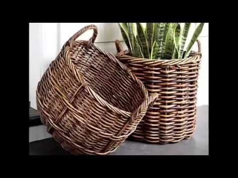 30 идей для использования плетеных корзин - YouTube