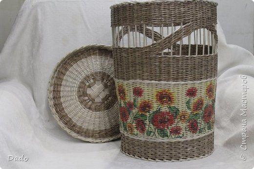 Поделка изделие Плетение Первый заказ Трубочки бумажные фото 1