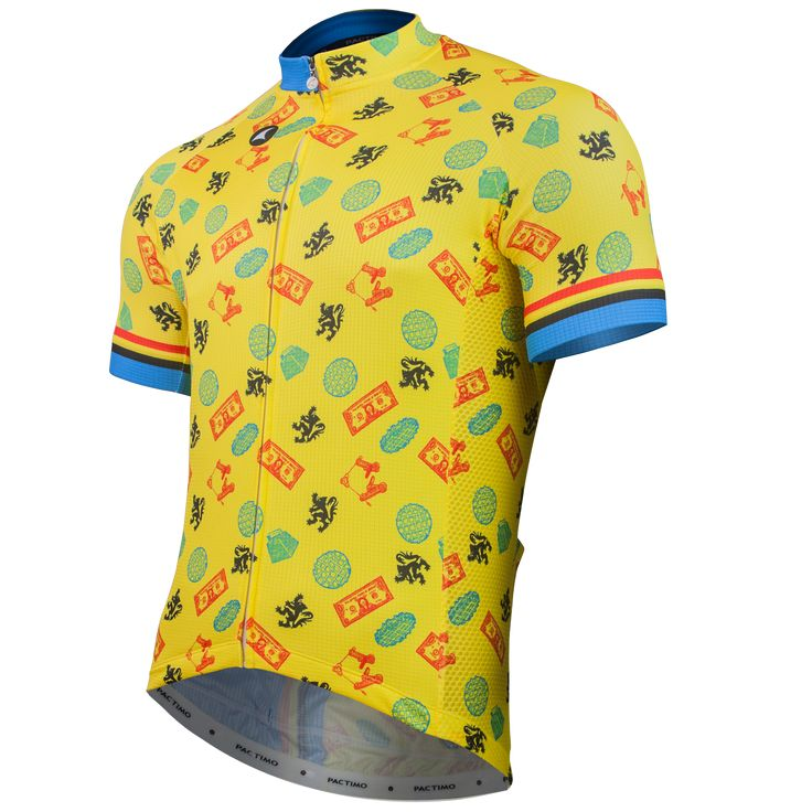 """For Those About to Cross we Salute You"" Cycling Jersey Men's - Artist Series by Matthew Burton"