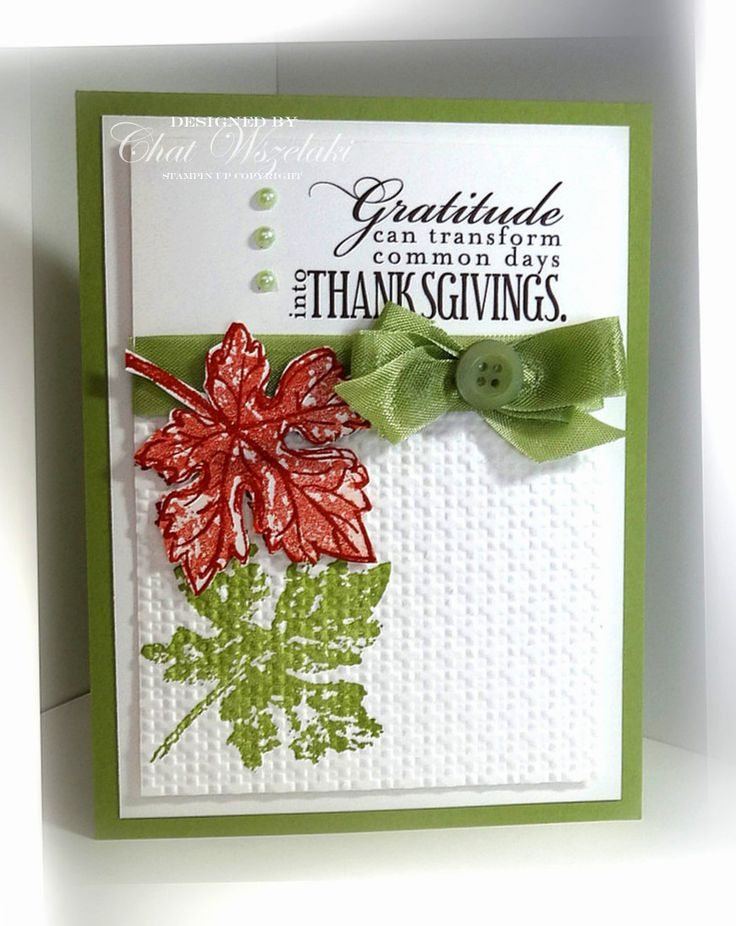 Gently Falling, Stampin' Up