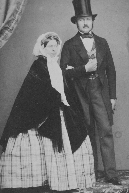 Queen Victoria and Prince Albert.
