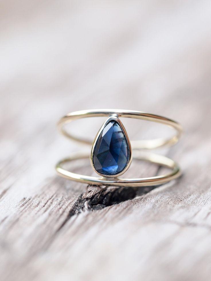 Vita Sapphire Slice Ring Gardens Of The Sun Jewelry Gold Sapphire Ring Engagement Rings Sapphire Gemstone Rings