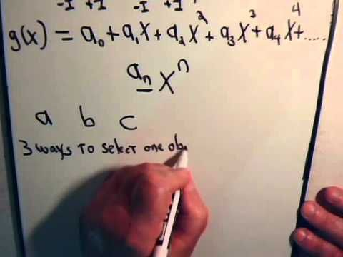 1. Permutations :Generating Functions -  Introduction And Example